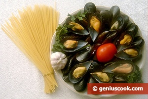 Ingredients for Pasta with Mussels
