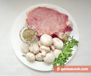 Ingredients for Meat with Mushrooms