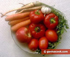 Ingredients for Sauce Adjika