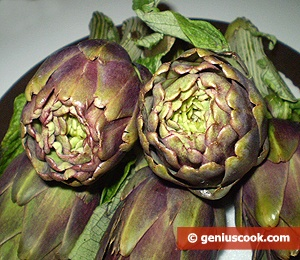Ingredients for Baked Artichokes