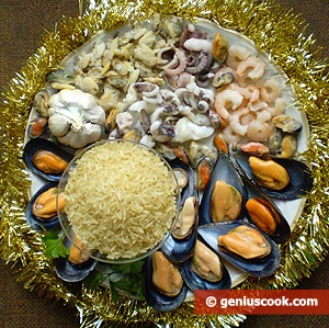 Ingredients for Seafood Rice