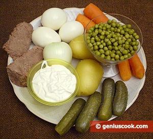 зимний русский салат