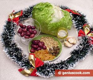 Ingredients for Iceberg Salad