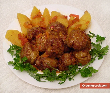 Ready Meatballs with Potato