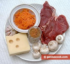 Ingredients for Meat Rolls