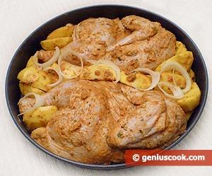 Цыплёнок с паприкой