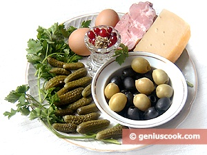 Ingredients for Cornichon Salad