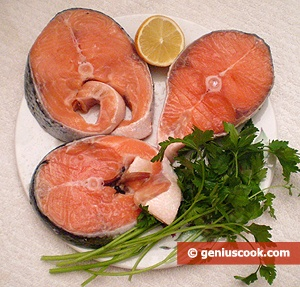 Ingredients for Salmon with Lemon Juice