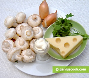 Ingredients for Stuffed Champignons