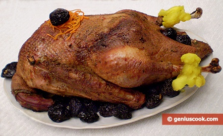 Goose with Dried Plump