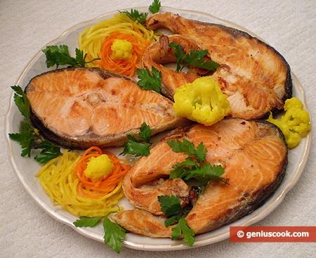 Salmon with Lemon Juice