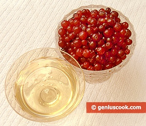 Ingredients for Cranberry Dessert with Honey