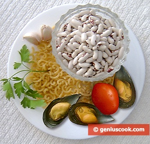 Ingredients for Pasta with Beans and Mussels
