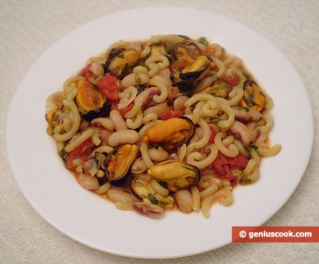 Pasta with Beans and Mussels | Erotic Cuisine | Genius cook - Healthy ...