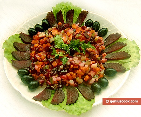 Red Beetroot Salad Vinegret