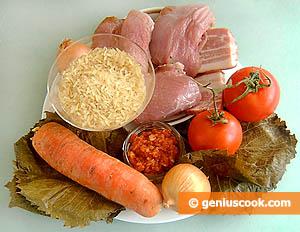 Ingredients for Stuffed Vine Leaves