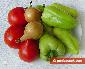 Ingredients for Sweet Peppers in Tomato Sauce