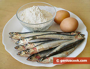 Ingredients for Fried Anchovies