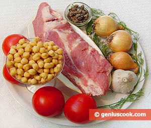 Ingredients for Pork Ribs with Chickpeas