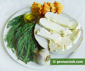 Ingredients for Tarts with Cottage Cheese and Garlic