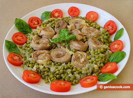 Lamb Meat with Green Peas
