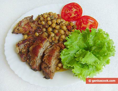 Pork Ribs with Chickpeas
