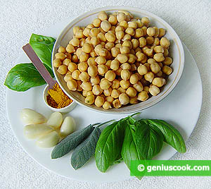 Ingredients for Chickpea with Basil