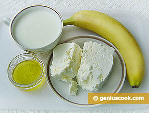 Ingredients for Cottage Cheese and Banana Cream