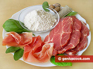 Ingredients for Saltimbocca all'Alfredo