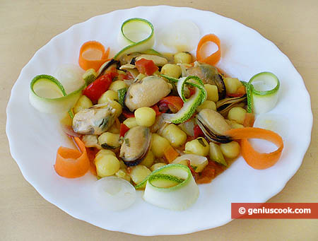 Gnoccetti with Mussels and Vegetables