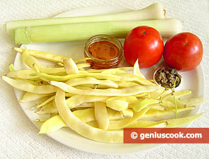 Ingredients for Runner Beans with Leek