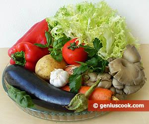 Ingredients for Vegetarian Pie