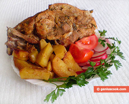 Baked Ham with Potatoes