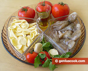 Ingredients for Italian Pasta in Octopuses Sauce