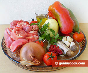 Ingredients for Lamb Meat with Sweet Pepper