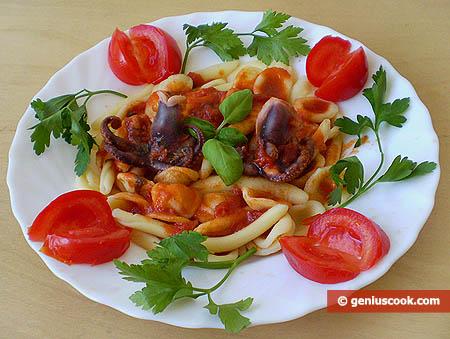 Italian Pasta in Octopuses Sauce