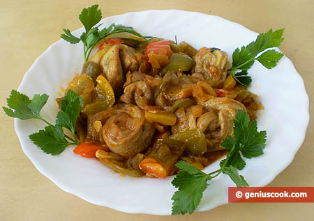 Lamb Meat with Sweet Pepper