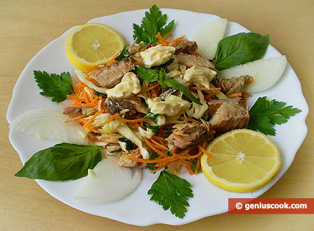 Mackerel and Vegetables Salad
