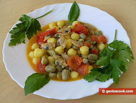Potato Gnoccetti with Shellfish and Beans