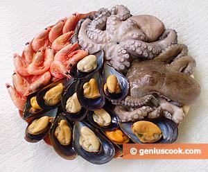 Ingredients for Seafood Salad