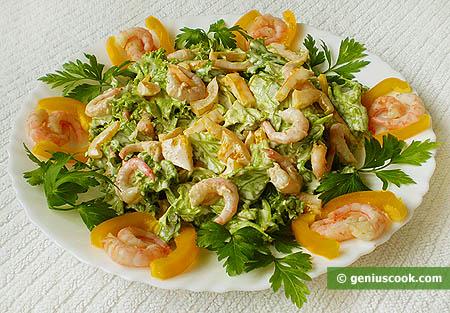 Shrimp Lettuce Salad