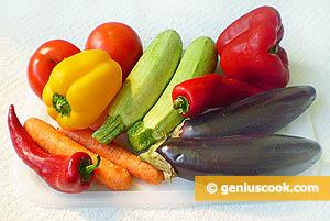 Ingredients for Vegetable Rolls