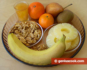 Ingredients for Fruit Mix with Walnut
