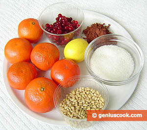 Ingredients for Glazed Tangerines in Chocolate