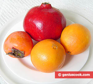 Ingredients for Persimmon and Orange Salad