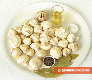 Ingredients for Pickled Champignons