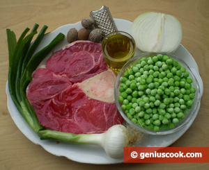 Ingredients for Osso Bucco with Peas