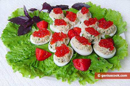 Caviar-Stuffed Eggs
