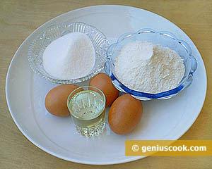 Ingredients for Doughnuts: Eggs, Flour, Sugar, Salt, Vegetable Oil