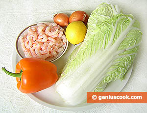 Ingredients for Napa Cabbage Salad